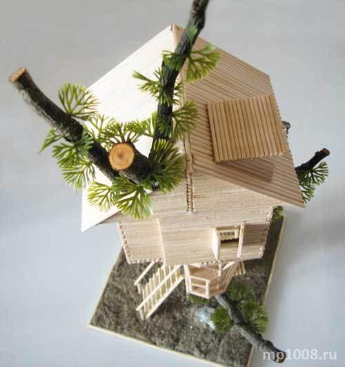 Как сделать домик из веток пошагово