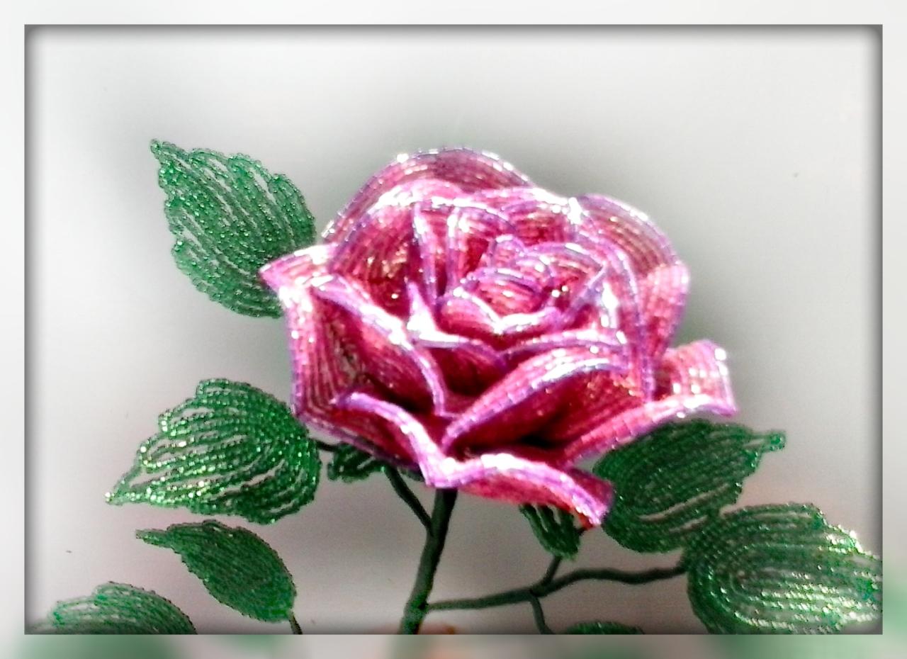 Роза бисера мастер класс с пошаговым