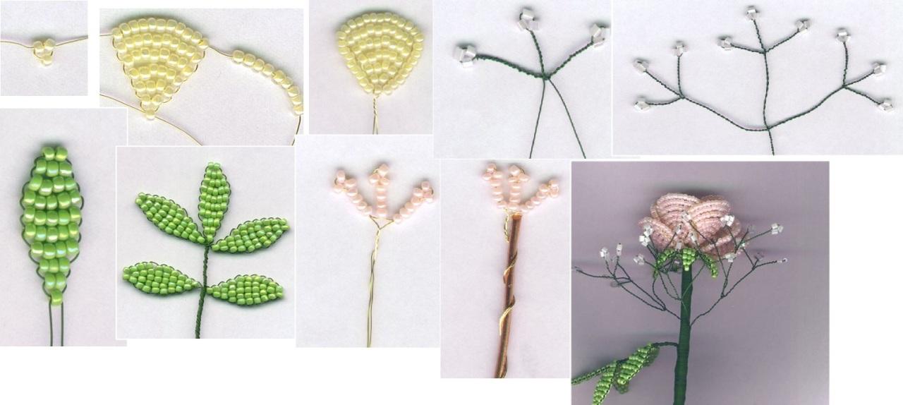 Как сделать цветы из бисера своими руками для начинающих
