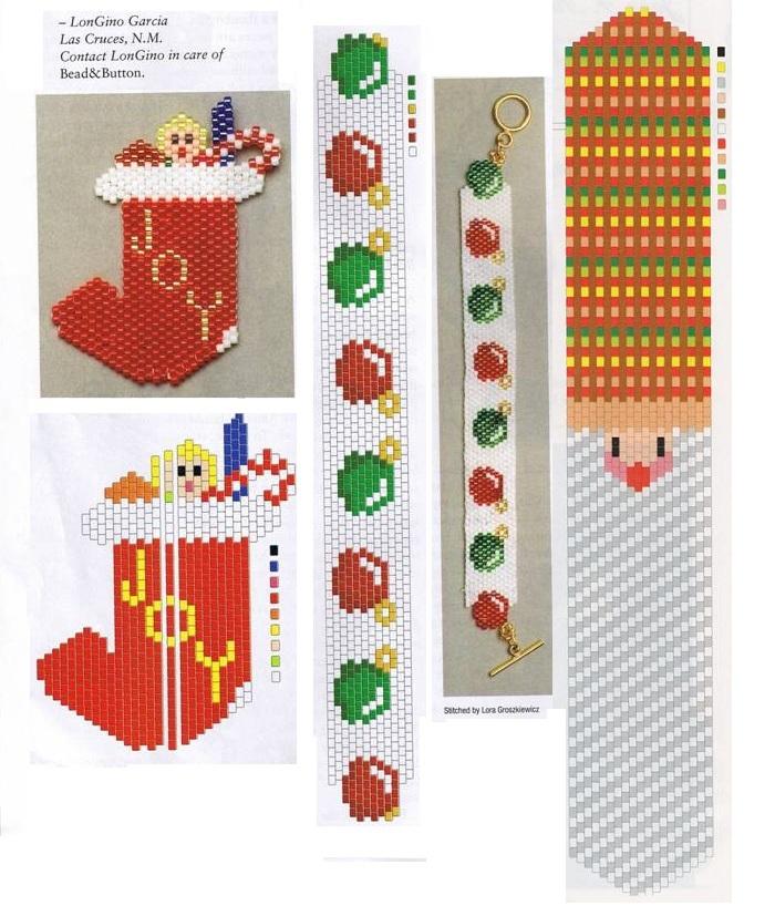 Плетение из бисера новый год