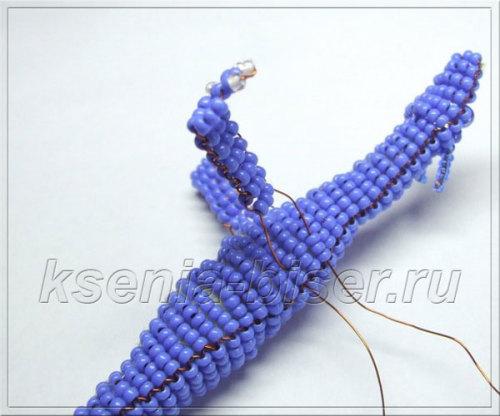 Шаг 44 - Объемный дракон из бисера: мастер-класс. Схема плетения дракончика из бисера для начинающих