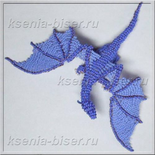 Шаг 49 - Объемный дракон из бисера: мастер-класс. Схема плетения дракончика из бисера для начинающих