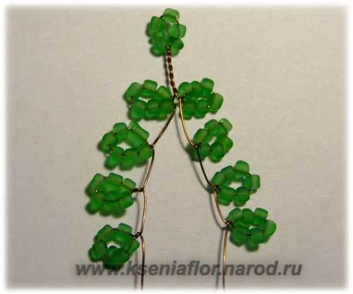 Шаг 2 - Рябина из бисера: мастер-класс своими руками. Схема плетения с пошаговым фото для начинающих