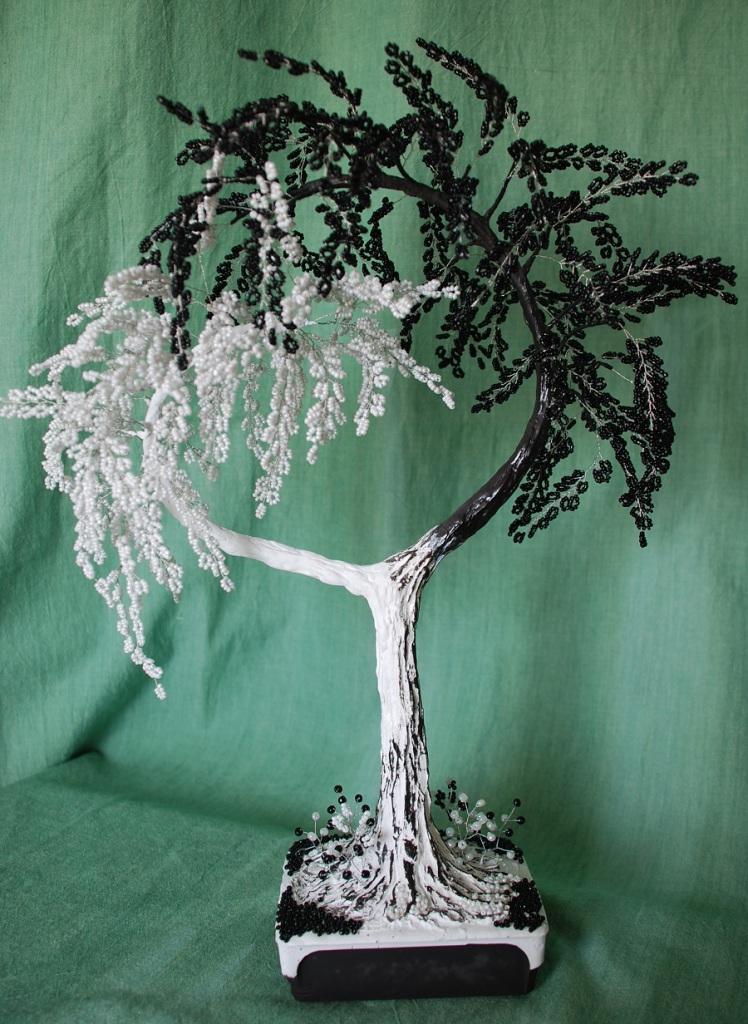 Дерево инь янь из бисера мастер класс пошаговое