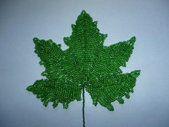 Виноградные листья из бисера мастер класс с пошаговым фото
