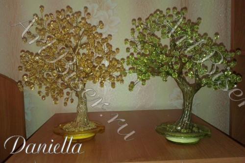 Деревья из бусин
