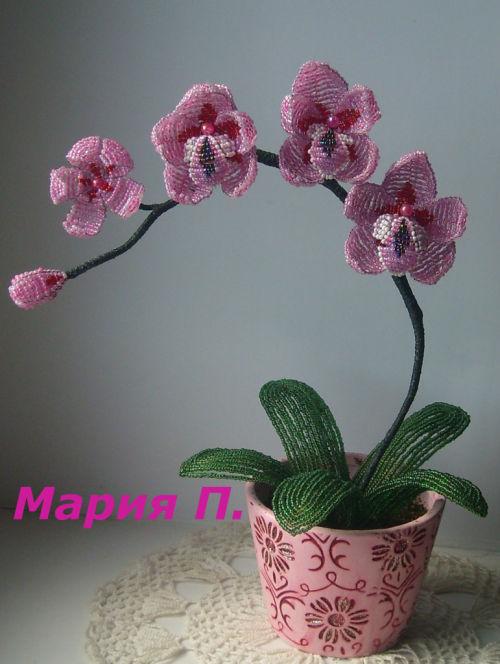 Смотреть цветы из бисера для начинающих