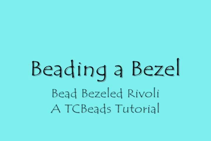 Как оплести риволи. How to Bead Bezel Rivolis