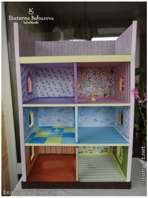 Как сделать дом из коробки для лпс 176