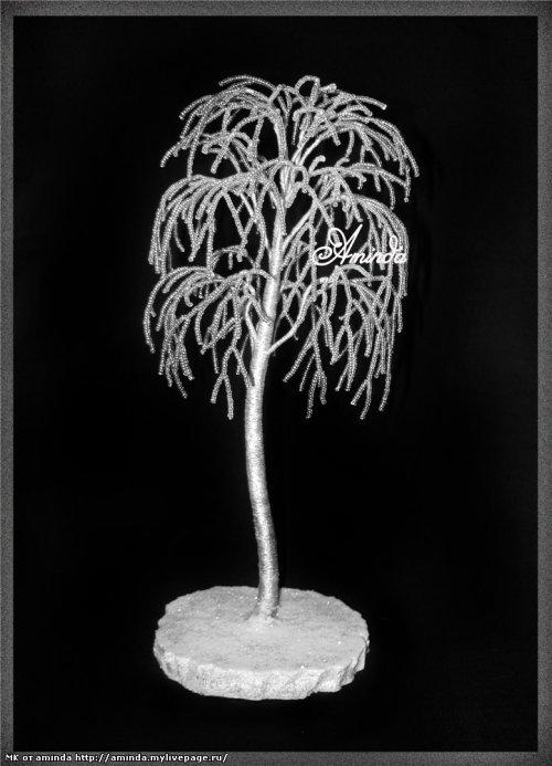 Шаг 26 - Зимняя береза из бисера: мастер-класс с фото