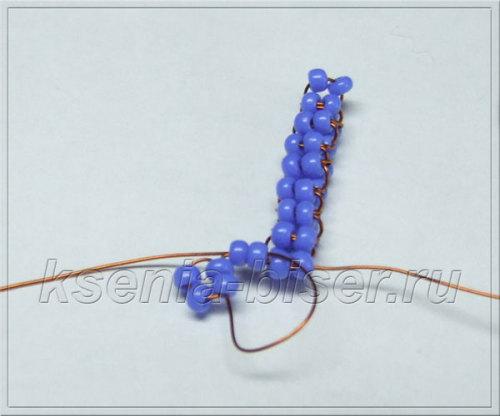 Шаг 34 - Объемный дракон из бисера: мастер-класс. Схема плетения дракончика из бисера для начинающих