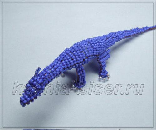 Шаг 45 - Объемный дракон из бисера: мастер-класс. Схема плетения дракончика из бисера для начинающих