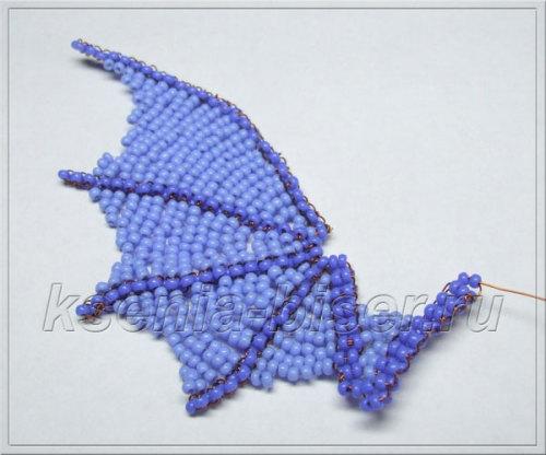 Крылья дракона из бисера
