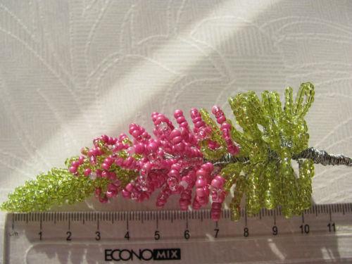 Шаг 41 - Вереск из бисера: схема плетения и мастер-класс