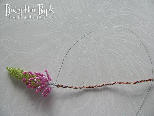 Шаг 30 - Вереск из бисера: схема плетения и мастер-класс