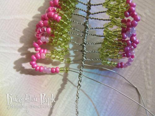 Шаг 16 - Вереск из бисера: схема плетения и мастер-класс