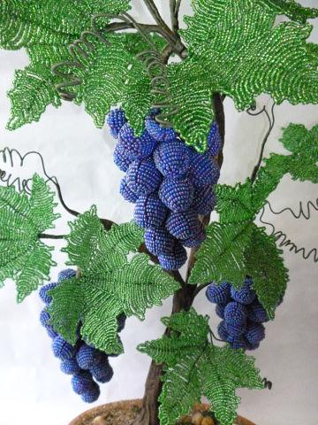 схема дерево из бисера виноград